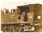 Borgomagno (Padova). Locomotiva  dopo un mitragliamento aereo