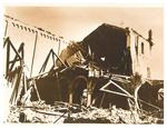 La Chiesa di san Benedetto (Padova) dopo il bombardamento dell'11/3/1944