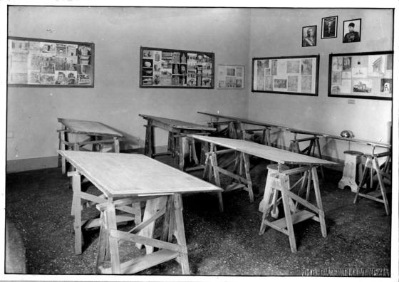 Aula di architettura nella prima sede dell'università in Ca' Giustinian a San Trovaso, 1934