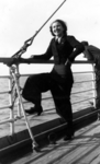 Egle Renata Trincanato sul ponte della nave