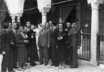 Foto di gruppo durante una visita