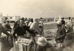 Giorgia Scattolin durante una escursione in cammello