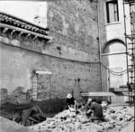 Il convento dei Tolentini durante i lavori di restauro