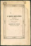 L'Orto Botanico di Padova nell'anno 1842