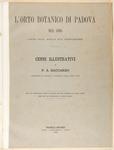 L'orto botanico di Padova nel 1895. (anno 350. dalla sua fondazione)