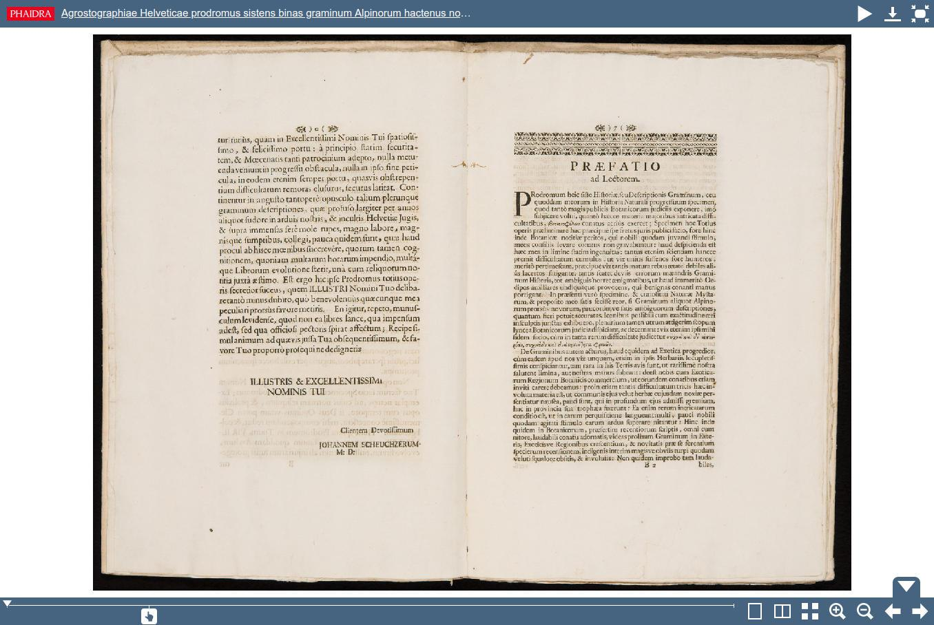 Image: a book displayed in the Phaidra Book Viewer.