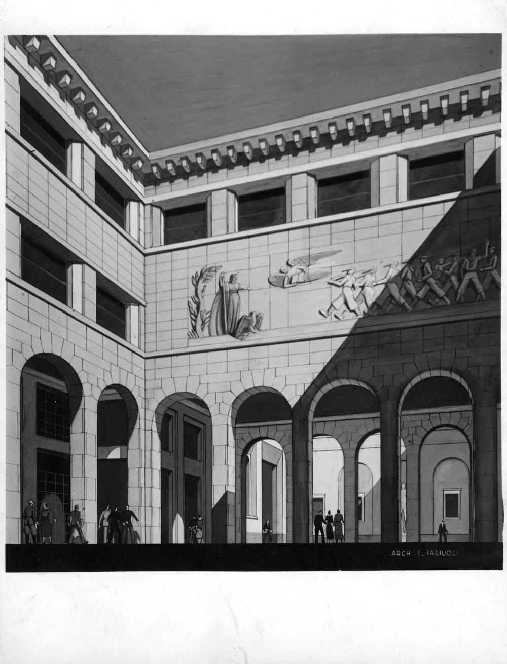 Palazzo Bo, Cortile littorio