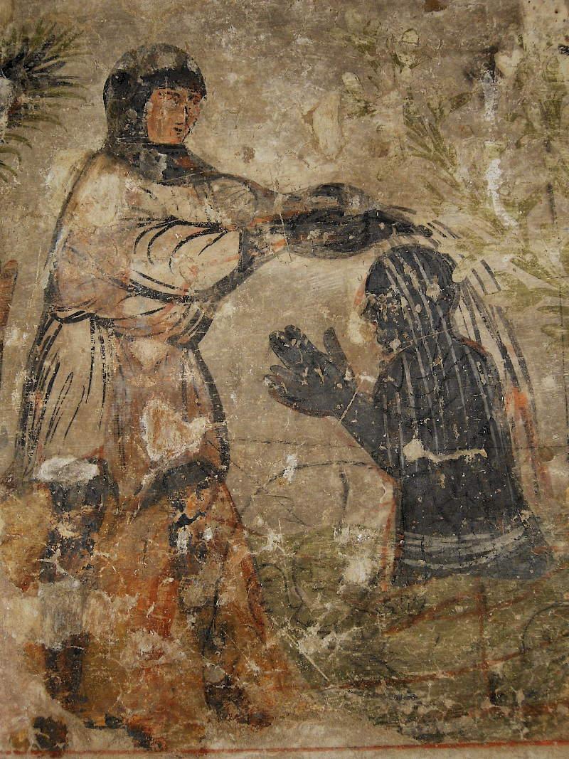 Treviso, Museum of Santa Caterina, Otinel fresco, detail: Otinel's baptism (foto di Claudia Boscolo)