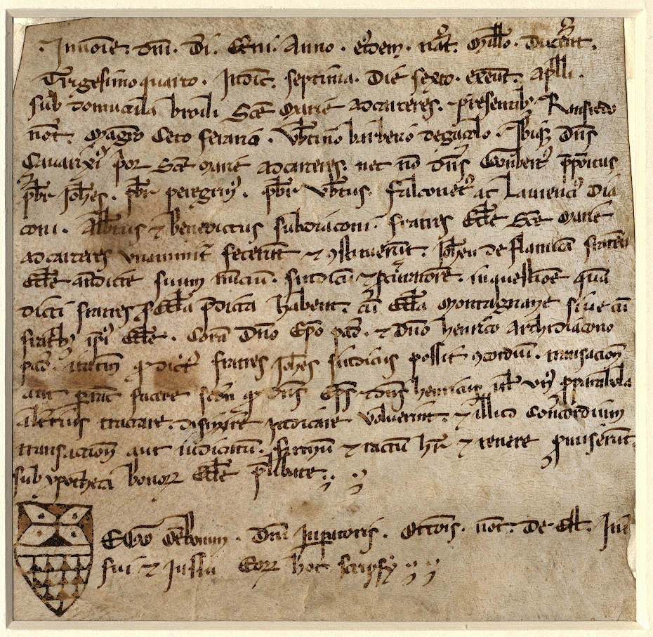 o:152062 - 1234 aprile 25, S. Maria delle Carceri, sub domuncula brolii