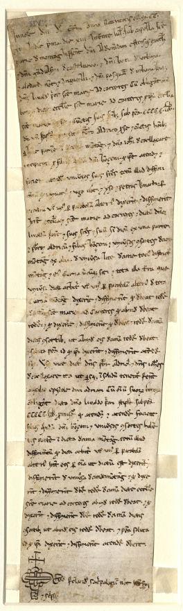 1213 luglio 13, Montagnana, sub capella Sanctae Mariae - Recto