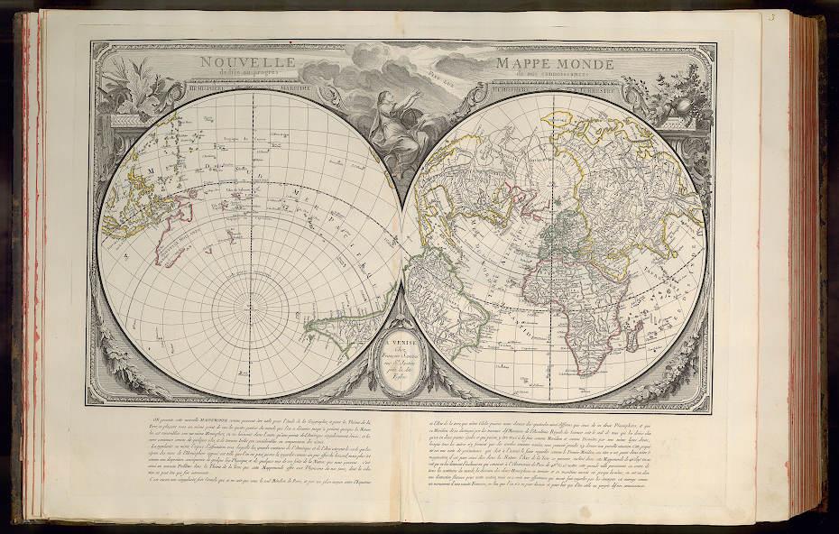 Hemisphere Maritime, Emisphere Terretre. (Santini 1776)